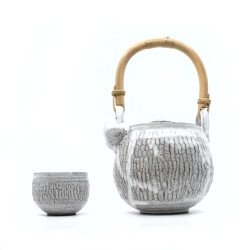 Teekanne mit Bambusgriff & Teeschale im japanischen Stil - Seite