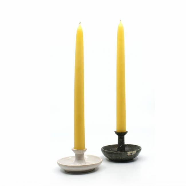 Kerzenständer Paar in schwarz weiß