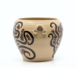 Handgefertigte bemalte Etruskervase nach antikem Original - Amphore - Henkel