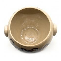 Handgefertigte bemalte Etruskervase nach antikem Original - Amphore - Innen