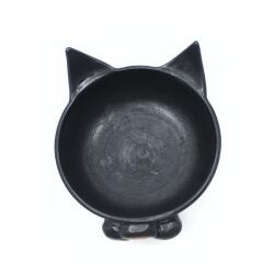 schwarze Schale 'Kitty Kitty' Innenansicht
