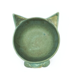Türkis Schale 'Kitty Kitty' Innenansicht