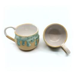 schmelzende Tasse Paar in mint Innenseite