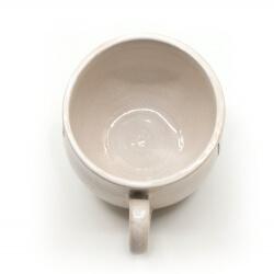 Schöne weiße handgefertigte Tasse mit Zombi Ratte Silhouette - Innenansicht